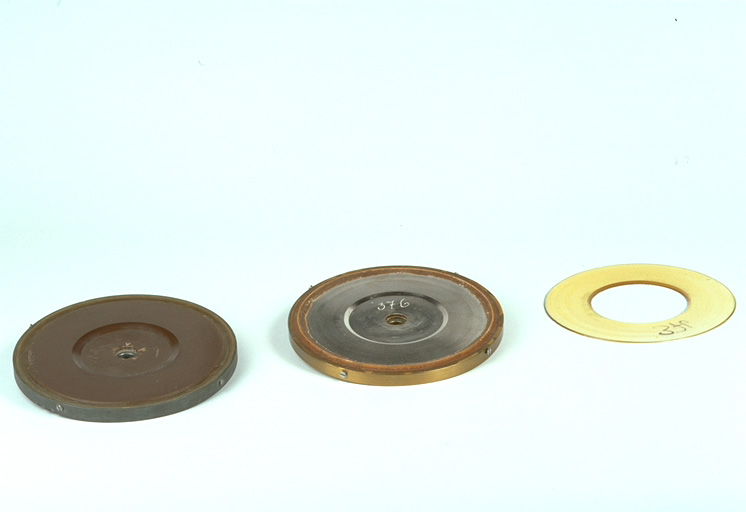 """Phonograms"" Wax Disc, Metal Disc, Epoxy Resin Cast"