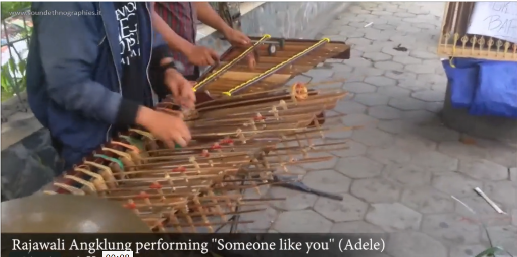 "A Western song in ""Angklung-style"""