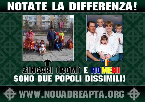 """A Poster (in Italian) Published Online By The Romanian Political Organization """"new Right"""""""