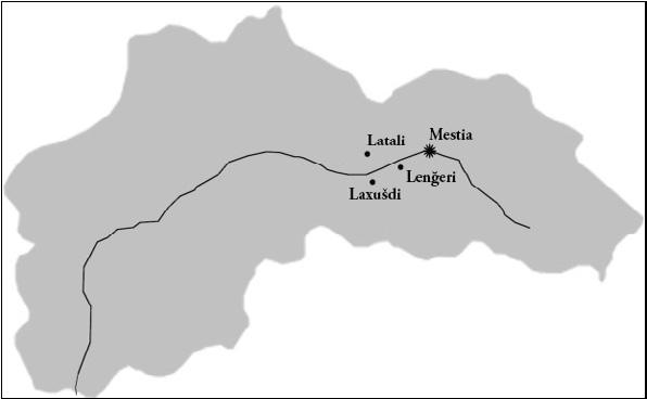Alto Svaneti, Località In Cui Si è Svolta La Ricerca