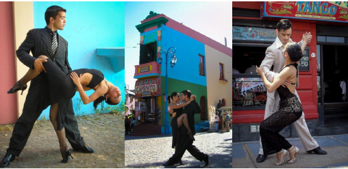 Dancers Working In The Tourist Area Of Caminito, Buenos Aires