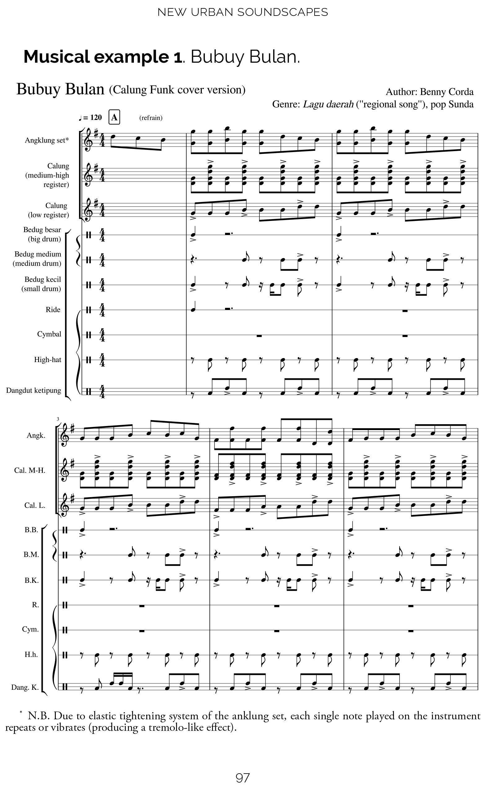 Musical Example 1. Bubuy Bulan Pagina 1