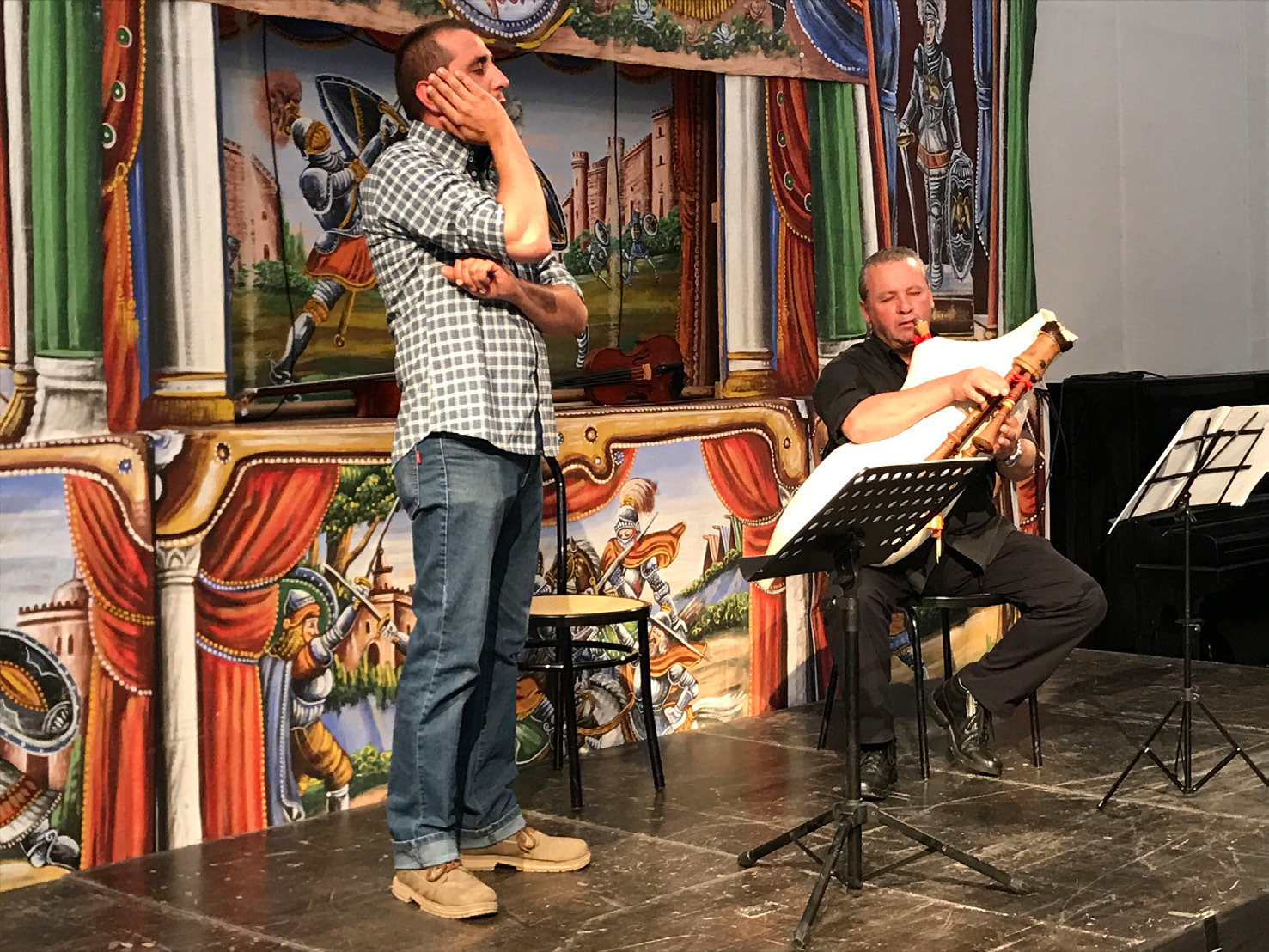 Sicilian Folksong Workshop During A Conference