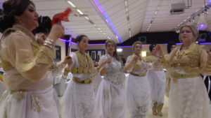 FIGURE 1. Screenshot from the film, showing a dance during the wedding party in Dortmund, Germany.