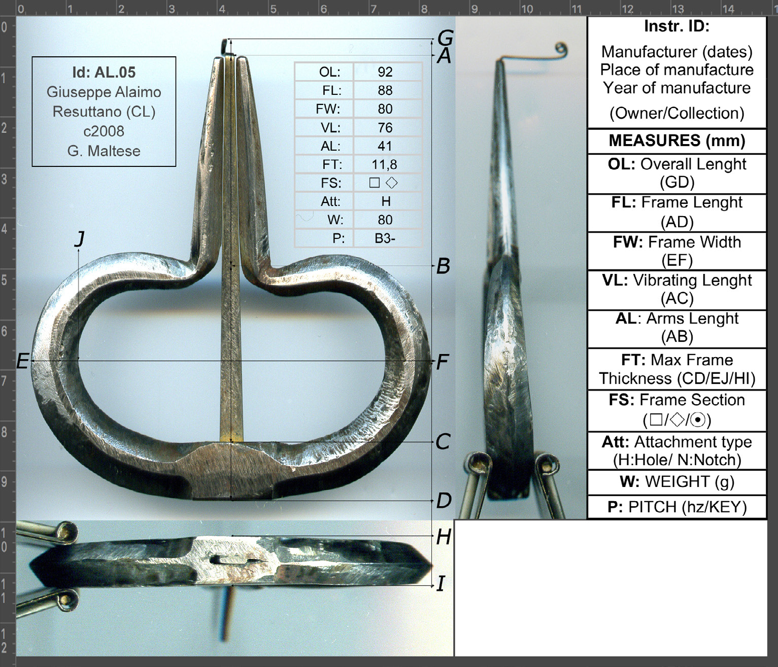 FIGURE-9.-Jews-harp-made-by-G.-Alaimo,-ca.-2008-(Coll.-Giorgio-Maltese).-With-scheme-of-standard-measurements-and-abbreviations-used-in-the-article-(side-rulers-in-ce