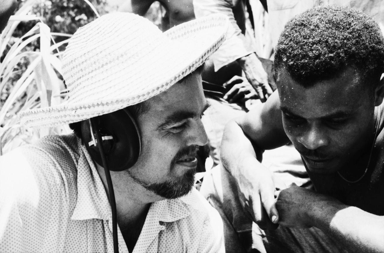 FIGURE 1. Alan Lomax in Dominica, Caribbean Islands, 1962