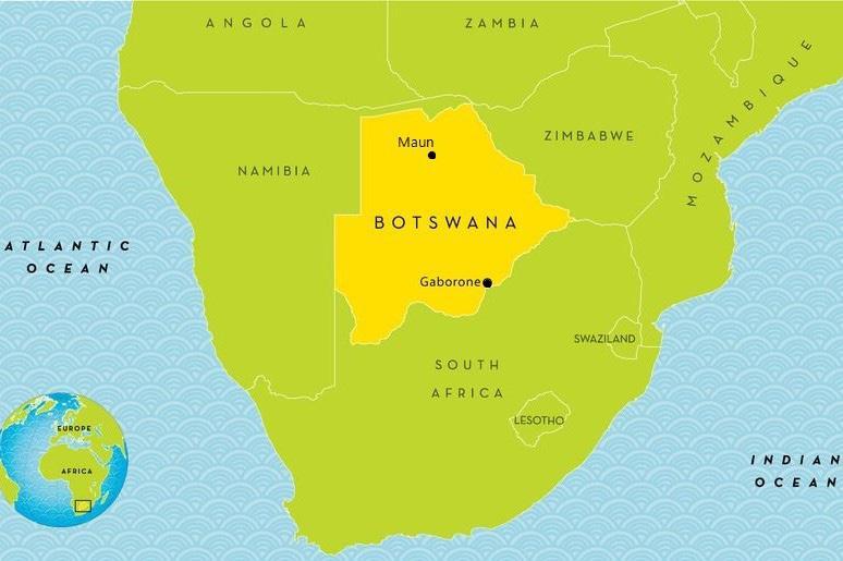 FIGURE 2. Map of Botswana