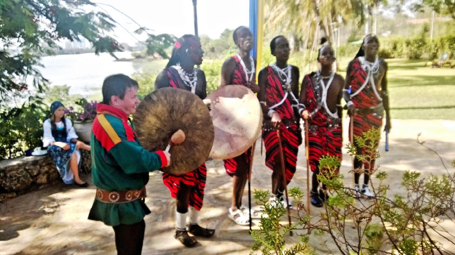 FIGURE 12. Niiles-Jouni Aikio during one of his tour in Africa (Dar es Salaam, 2013, photo: courtesy of Aikio family).