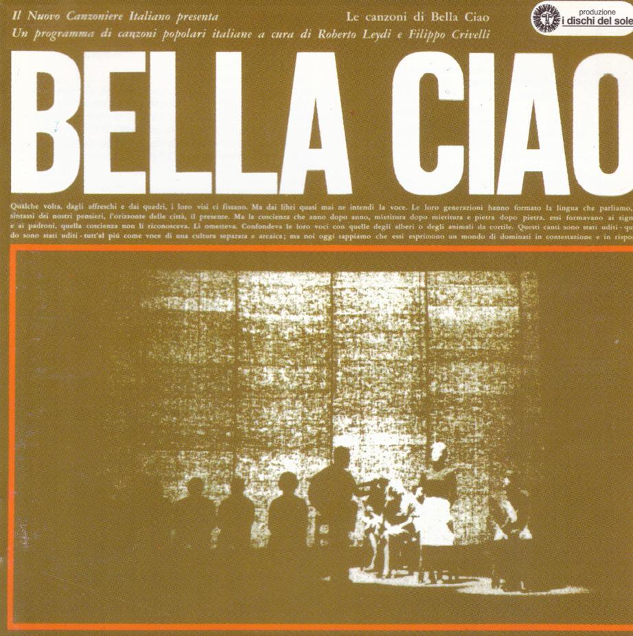 """FIGURA 6. Copertina del disco """"Le canzoni di Bella Ciao"""", Dischi del Sole, 1964."""