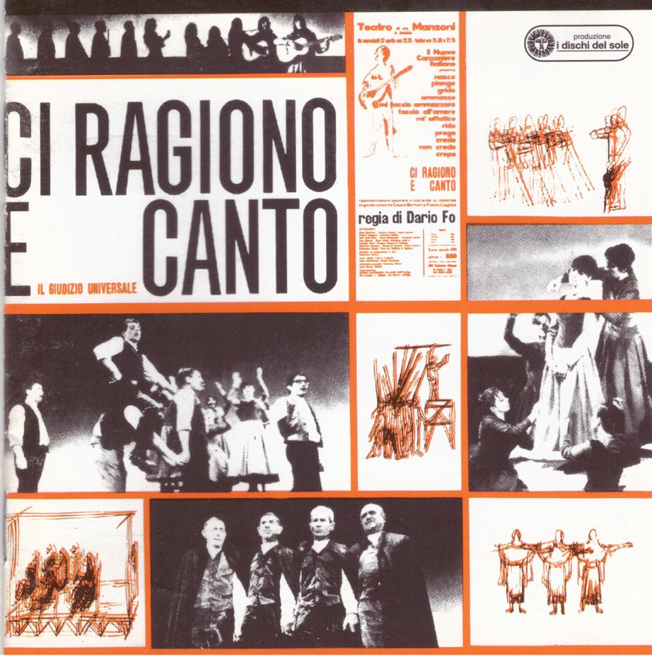 """FIGURA 7. Copertina del disco """"Ci ragiono e canto"""", Dischi del Sole, 1966."""